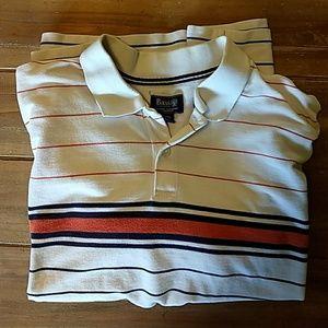 Bass XXL stripped polo shirt
